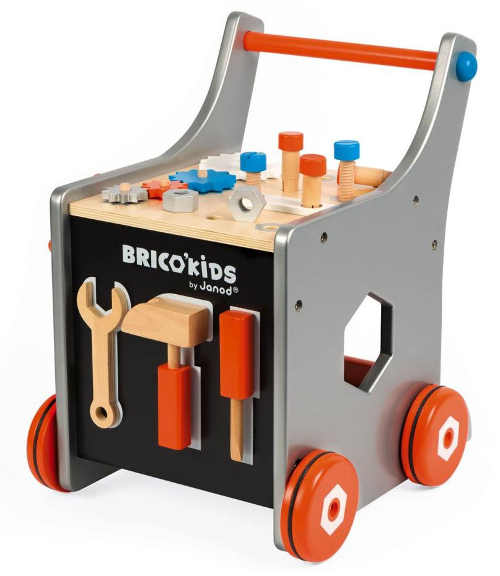 Chodítko magnetický dřevěný vozík pro malé kutily