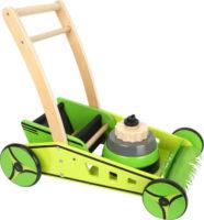 Dřevěné dětské chodítko sekačka na trávu 2v1