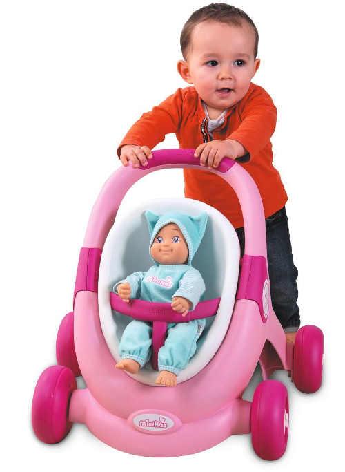 Hračka růžový kočárek pro nejmenší děti