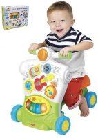Dětské chodítko 3 v 1 odrážedlem a melodiemi
