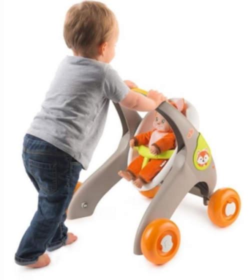 Hračka kočárek pomáhající dětem naučit se chodit