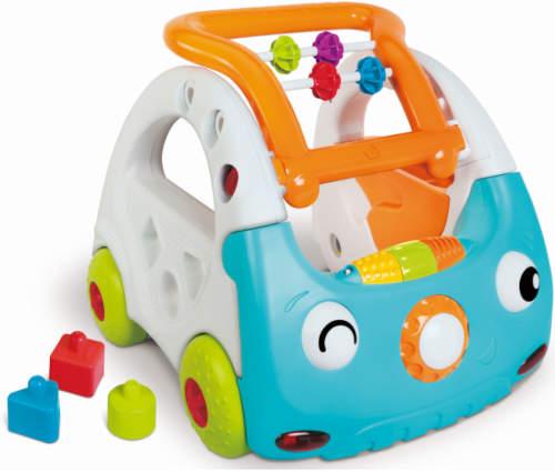 Modrobílé chodítko ve formě autíčka Discovery Car 3 v 1