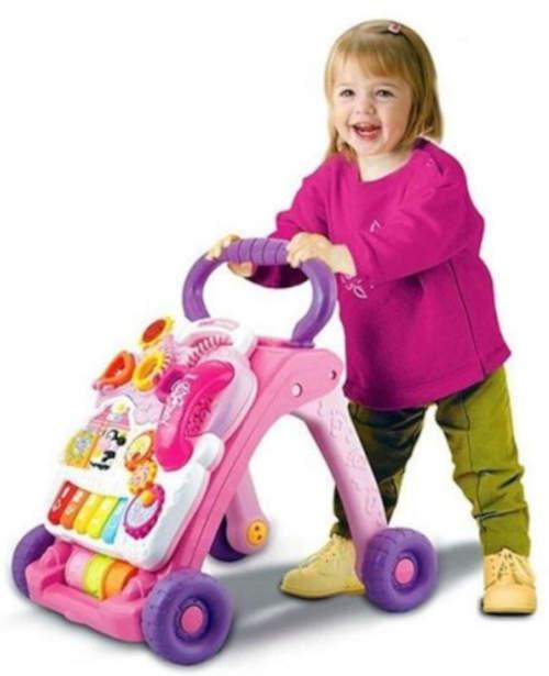 Růžové chodítko VTECH rostoucí s dítětetem