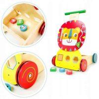 Dřevěné edukační chodítko Eco Toys Lvíček
