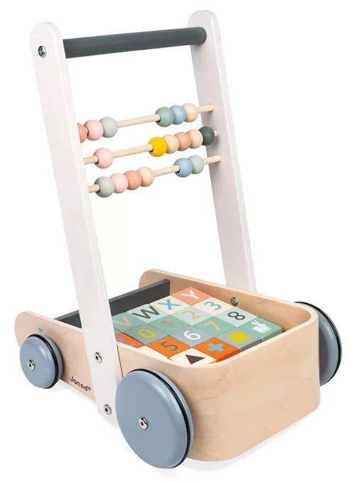Montessori dětské chodítko s počítadlem a kostkami