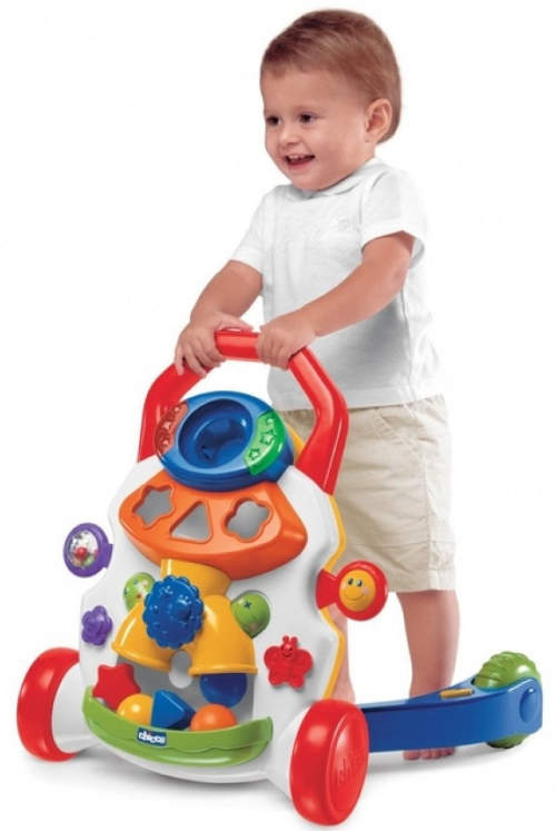 Zábavné dětské chodítko rozvíjející motorické schopnosti